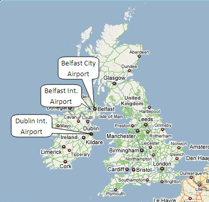 map uk international airports - Teacheng.us